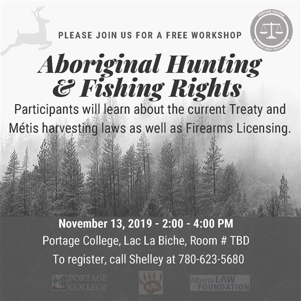 Aboriginal Hunting & Fishing Rights poster